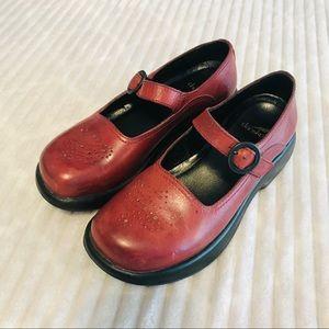 Dansko Red Butterfly Mary Jane Clog Nurse Shoes 37